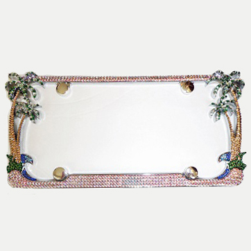 by the sea swarovski crystal license plate frame