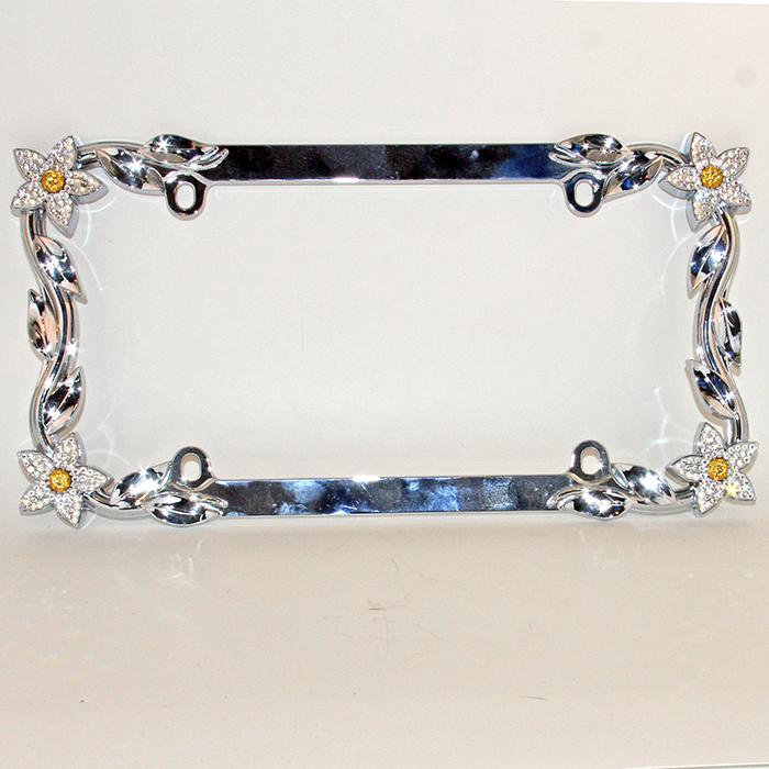 Daisy Sparkle Swarovski Crystal License Plate Frame – sparklefox.com